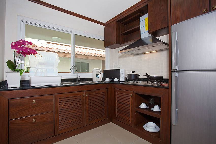 Kitchen Timberland Lanna Villa 404 in Pattaya