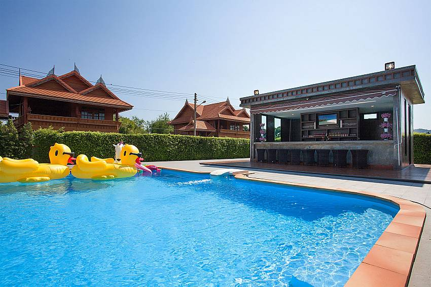 Bar near swimming pool Timberland Lanna Villa 201 in Bangsaray Pattaya