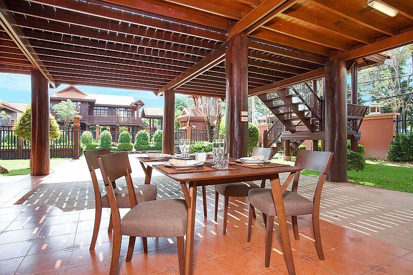 Dinning area Timberland Lanna Villa 201 in Bangsaray Pattaya