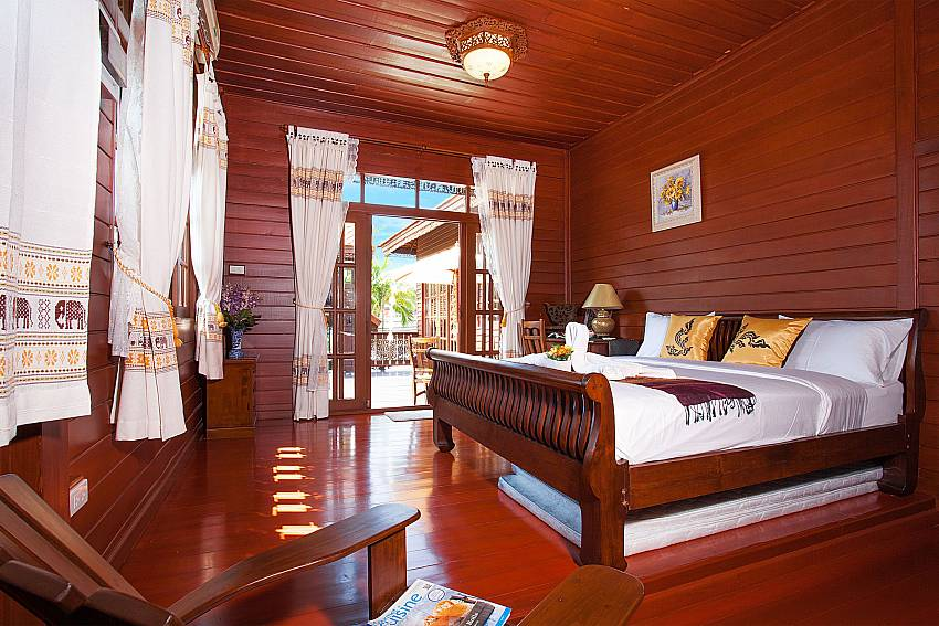 Bedroom Timberland Lanna Villa 201 in Bangsaray Pattaya