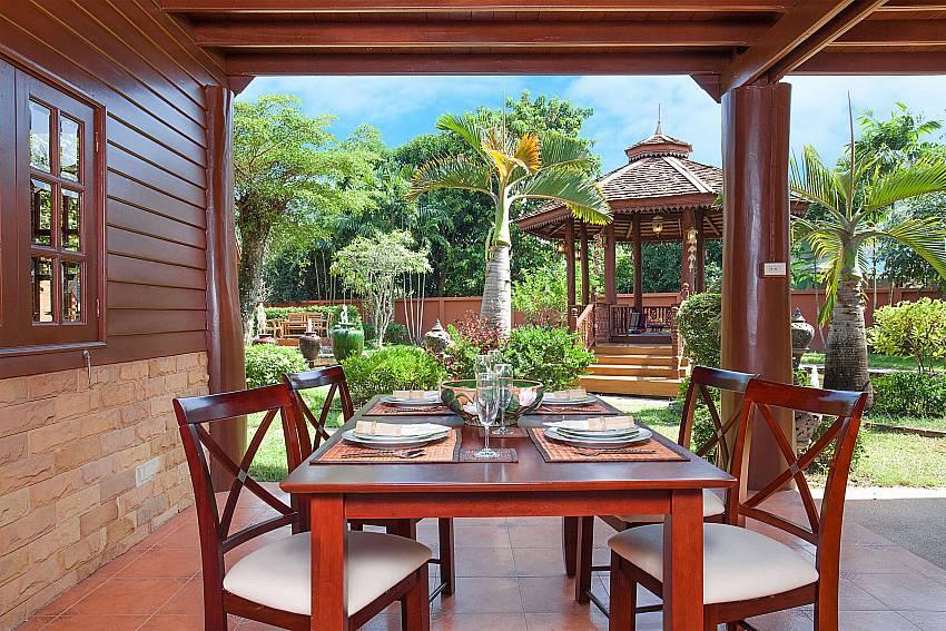 Dinning area Timberland Lanna Villa 202 in Pattaya