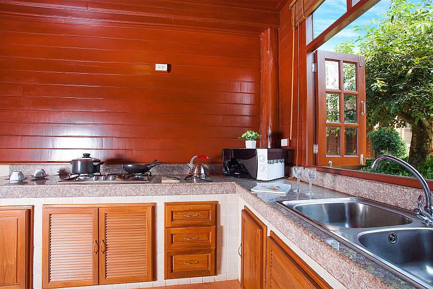 Kitchen Timberland Lanna Villa 202 in Pattaya