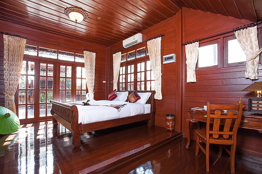 Bedroom Timberland Lanna Villa 202 in Pattaya