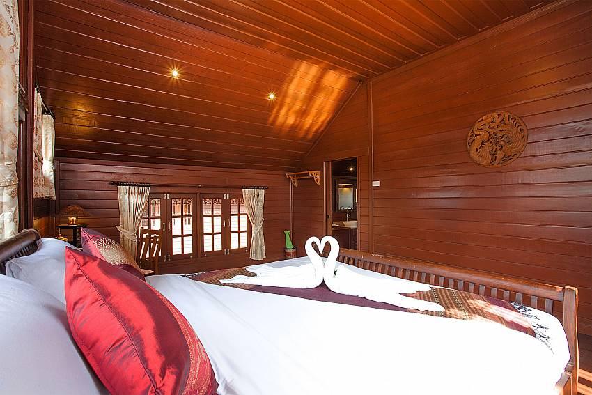 Bedroom Timberland Lanna Villa 202 in Pattaya