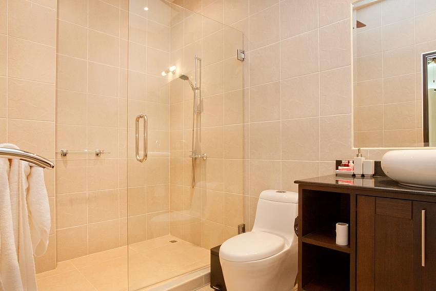 Bathroom with shower at Waew Opal South Phuket