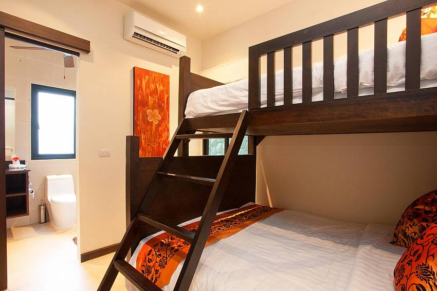 Queen & Single Bunk Beds-waew-opal_6-bedroom_private-pool-villa_nai-harn_phuket_thailand