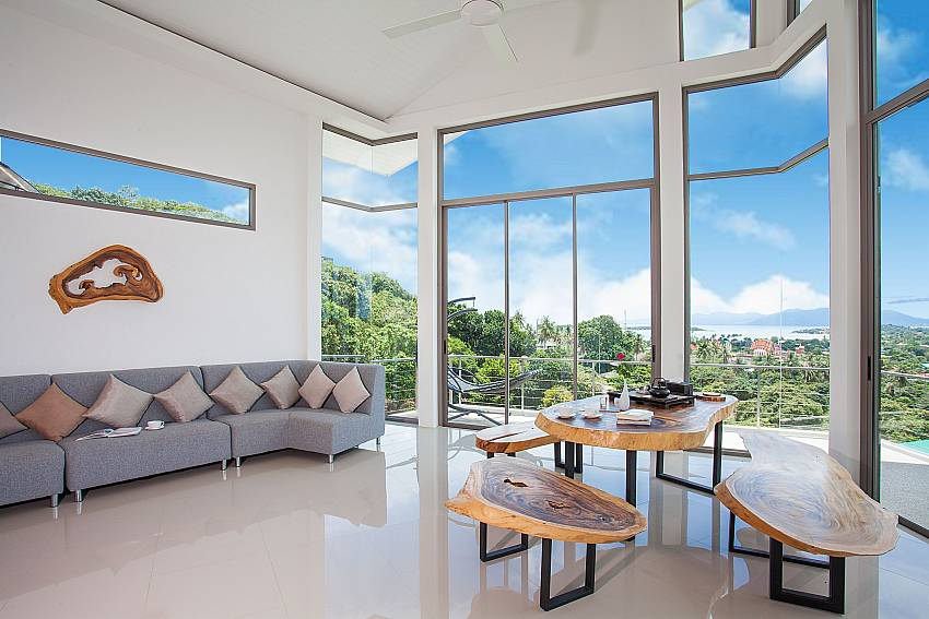 Living area Villa Ajay Samui in Plai Laem Koh Samui