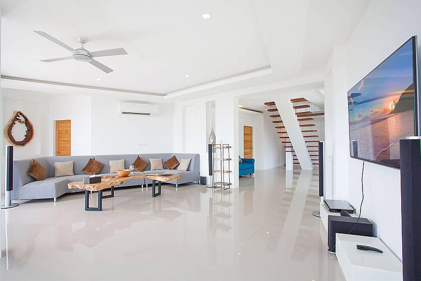 Living area with TV Living area Villa Ajay Samui in Plai Laem Koh Samui