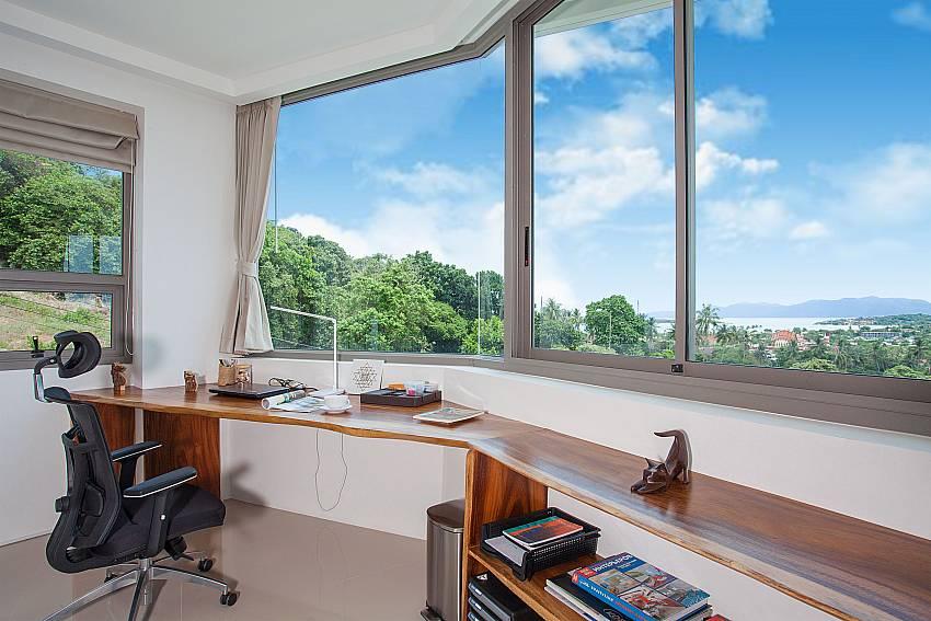 Desk Living area Villa Ajay Samui in Plai Laem Koh Samui