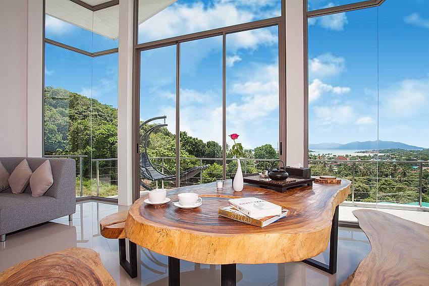 Dinning area Living area Villa Ajay Samui in Plai Laem Koh Samui