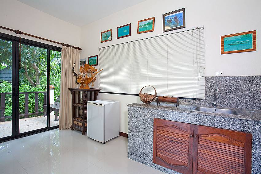 2.bedroom with small kitchen in Villa Damini at Koh Samui Thailand
