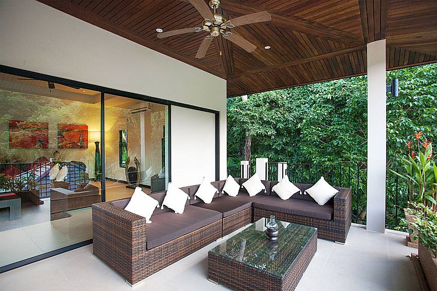 Huge outdoor lounge at Pagarang Villa in Nai Harn South Phuket