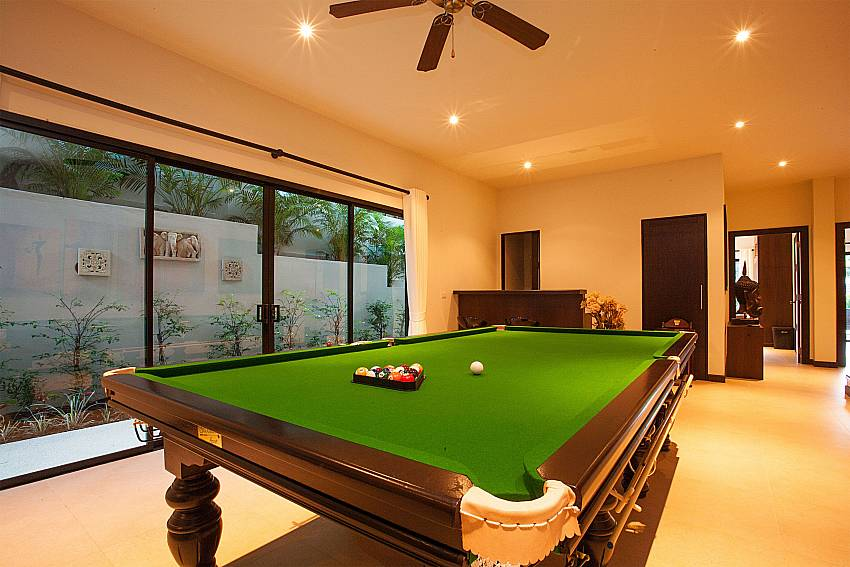 Big pool table at Pagarang Villa Nai Harn Phuket