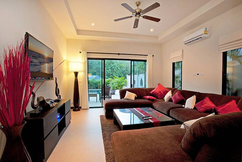 Big Flat screen TV in the living area at Pagarang Villa South Phuket