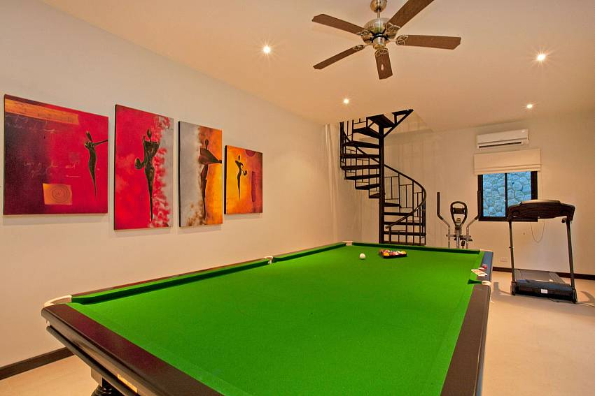 Games room and Gym-pagarang-villa_6-bedroom_luxury-pool-villa_nai-harn_phuket_thailand
