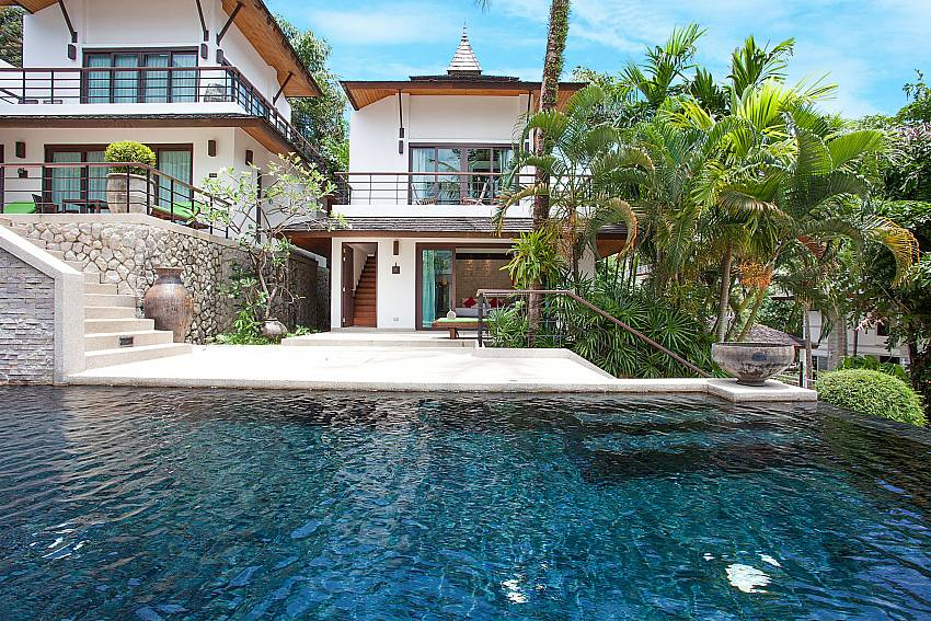 Communal pool in front of Nirano Villa 25 in Kathu Central Phuket