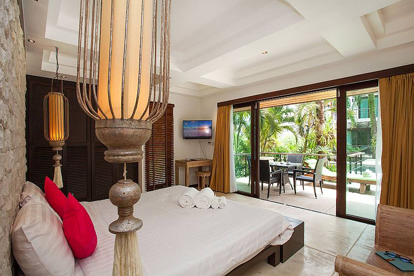 Master bedroom of Nirano Villa 25 in the center part Phuket