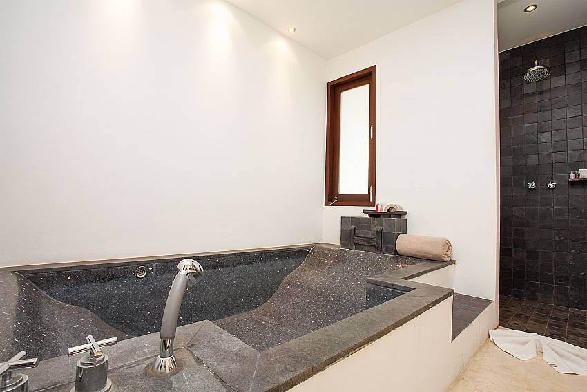 Bath tube in master bath at Nirano Villa 25 in Central Phuket