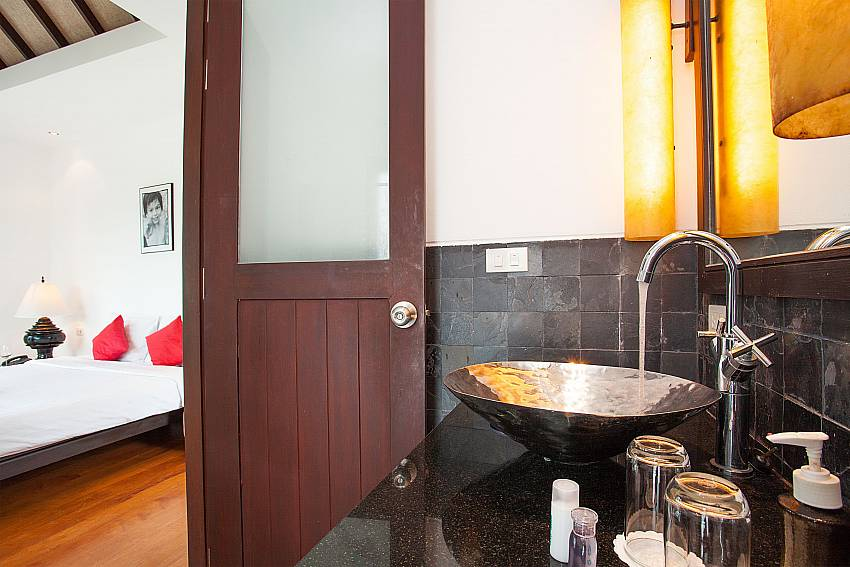 Guest bathroom at Nirano Villa 25 in Kathu Central Phuket