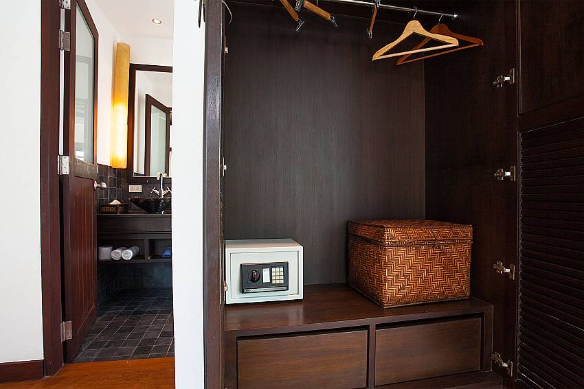 Safe in master bedroom of Nirano Villa 25 in Phuket