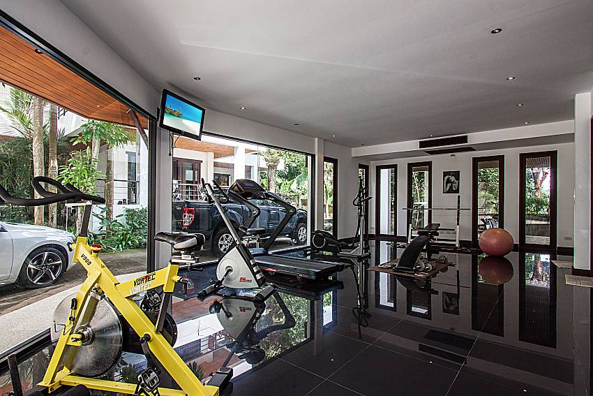 Gym in resort of Nirano Villa 25 in Kathu Phuket