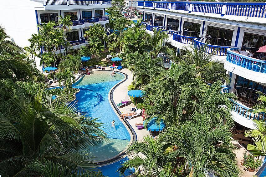 Big communal pool at Apartment Khuno 103 on the west coast of Phuket