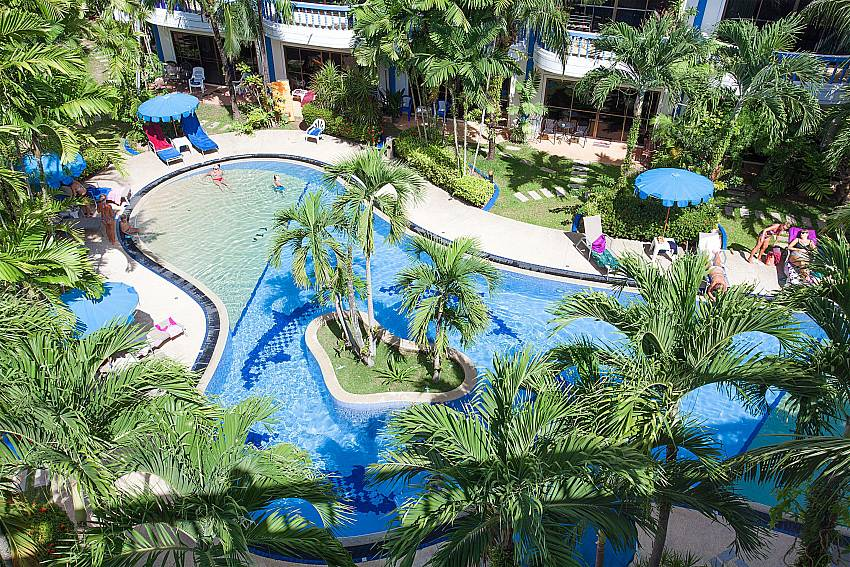 Big communal pool at Apartment Khuno 203 in Kamela Phuket
