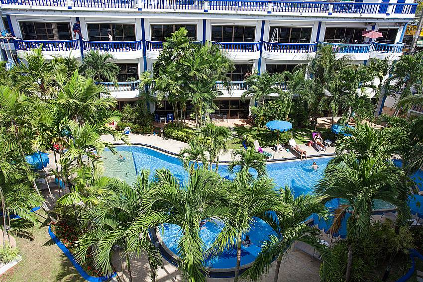 Communal pool with sun beds at Apartment Khuno 203 Phuket