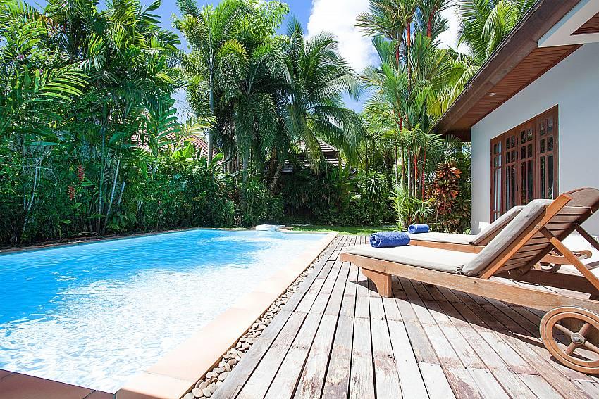 Pool and garden at Villa Armorela 201 in Bang Tao Phuket