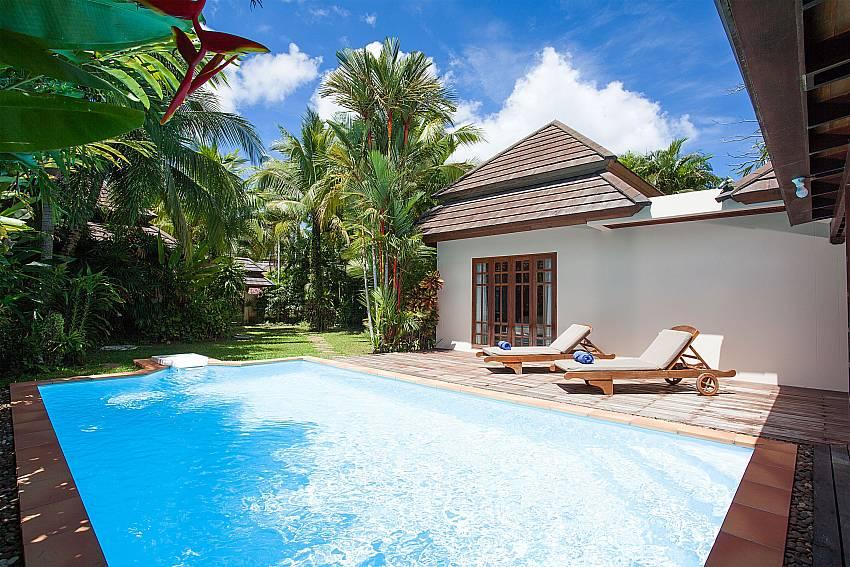 Private swimming pool in 2 bed Villa Armorela 201 at Bangtao Phuket