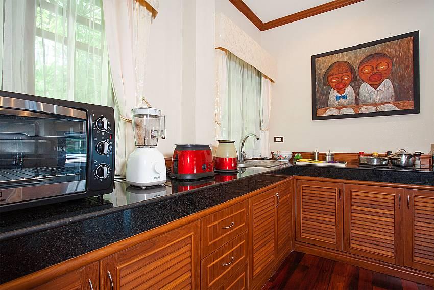 Western style kitchen in Villa Armorela 201 at Bang Tao Phuket