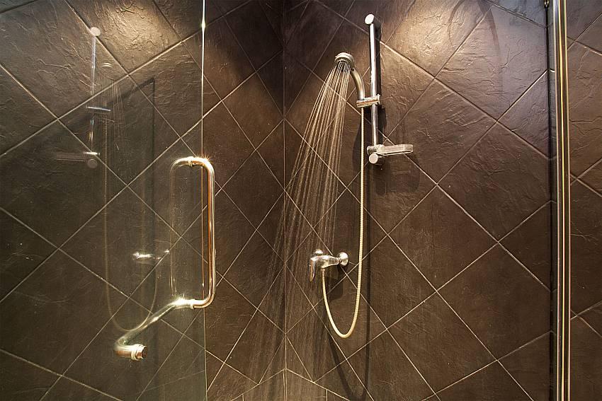 Shower in master bath of Villa Armorela 201 in Phuket