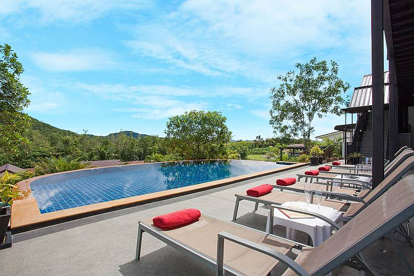 Sun loungers with private pool at Big Buddha Hill Villa 2 in Phuket