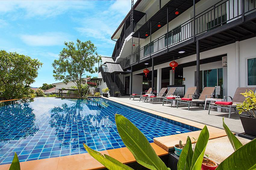 Private Pool with sun deck at Big Buddha Hill Villa 2 in Phuket