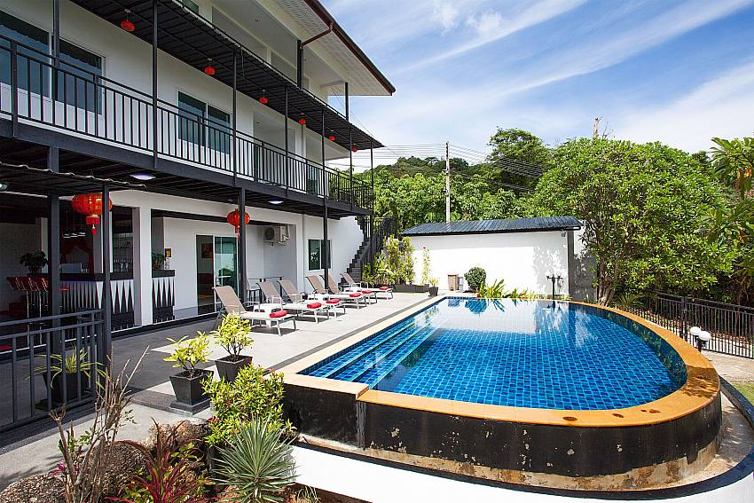 Private pool area of Big Buddha Hill Villa 2 in Chalong Phuket