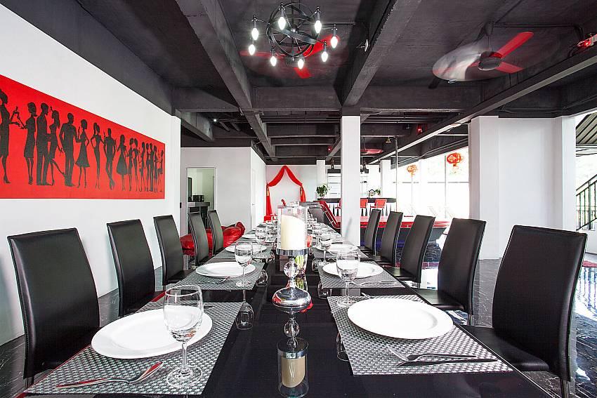 Gib dining table in open plan living at Big Buddha Hill Villa 2 Phuket