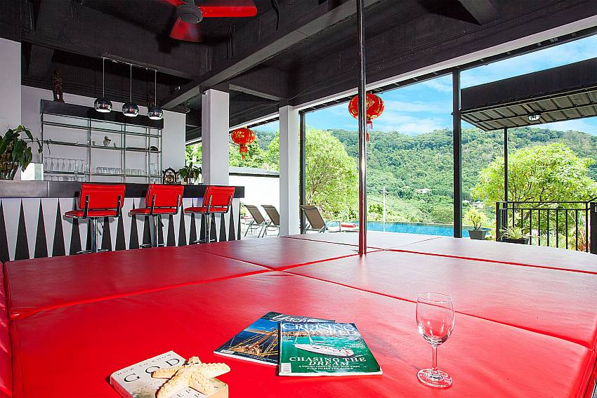 Lounge with bar and view at Big Buddha Hill Villa 2 in South Phuket