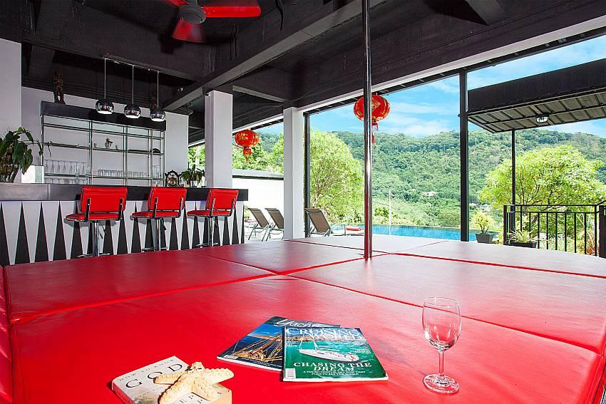 Lounge with bar and view at Big Buddha Hill Villa 2 in South Phuket