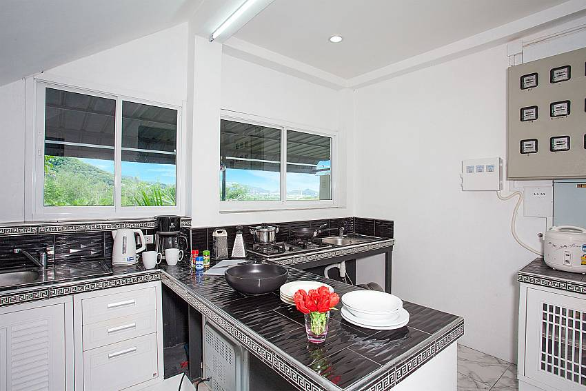 Modern kitchen at Big Buddha Hill Villa 2 in Chalong Phuket