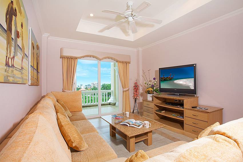 Lounge at Manuae Condo 202 Phuket with 2 bedrooms and sea view