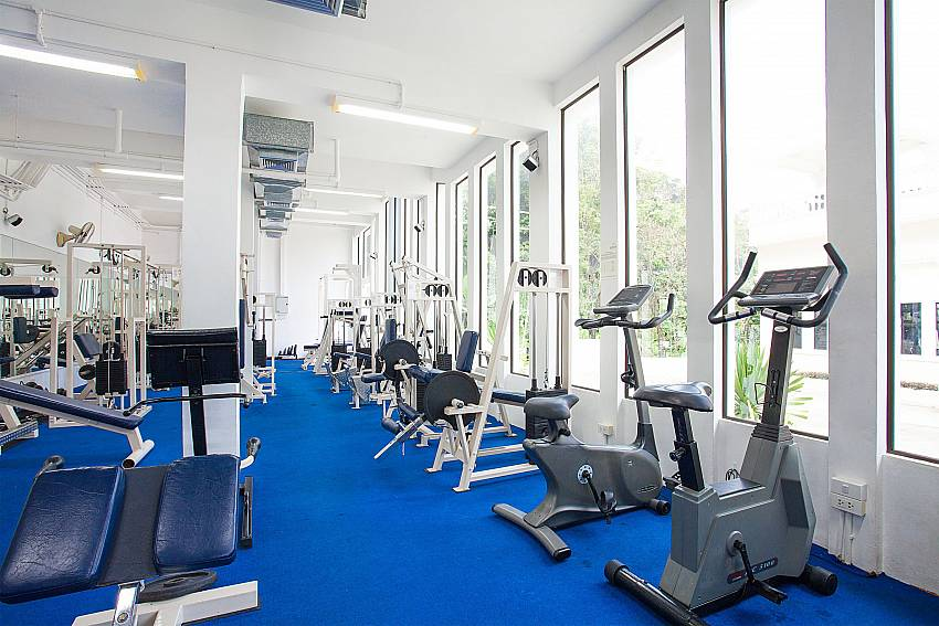 Modern gym at Manuae Condo 202 in Karon Phuket