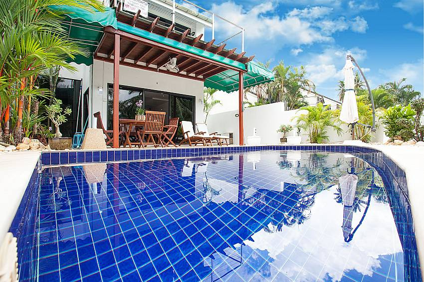Private Pool with outdoor sitting at Villa Dooriya in Phuket