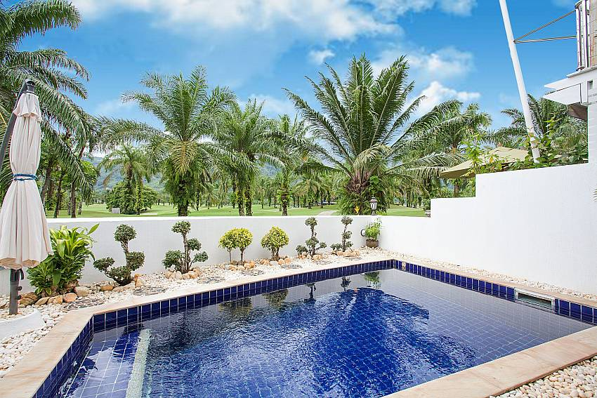 Private pool with view of Loch Palm Golf Course at Villa Dooriya Central Phuket
