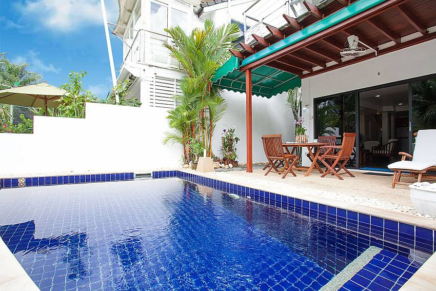 Private pool area at Villa Dooriya in Kahtu Central Phuket