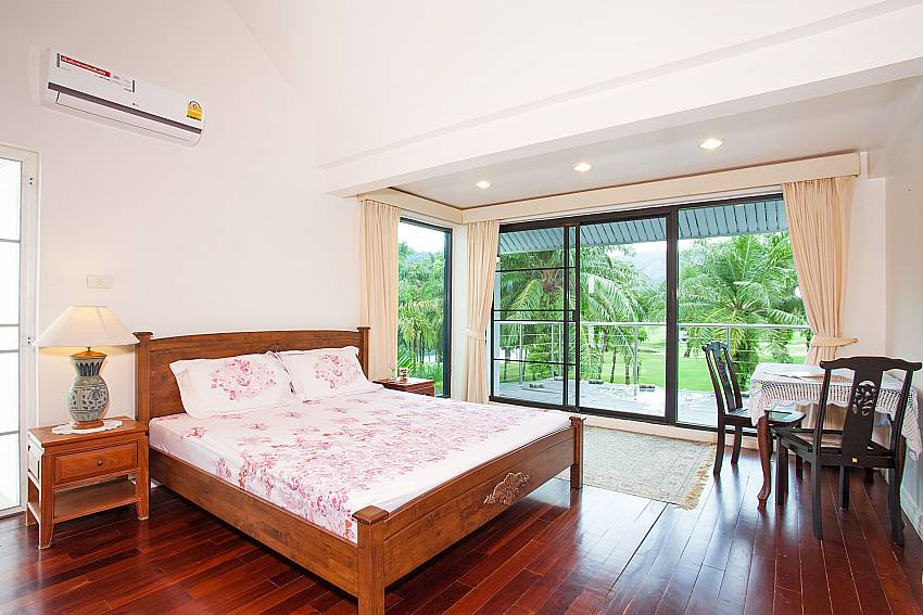 View of Loch palm golf course from master bedroom in Villa Dooriya Phuket