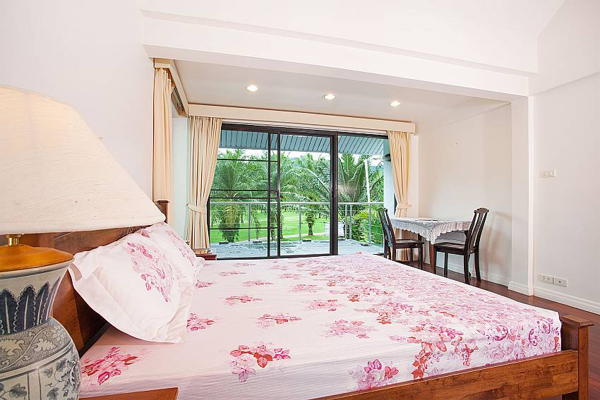 Master bedroom with private balcony at Villa Dooriya Phuket