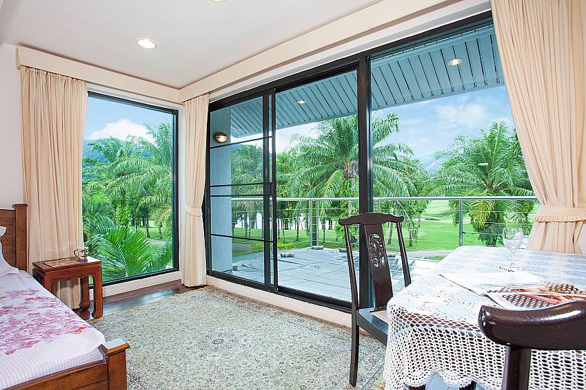 Master bedroom with view over golf course in Kathu Central Phuket