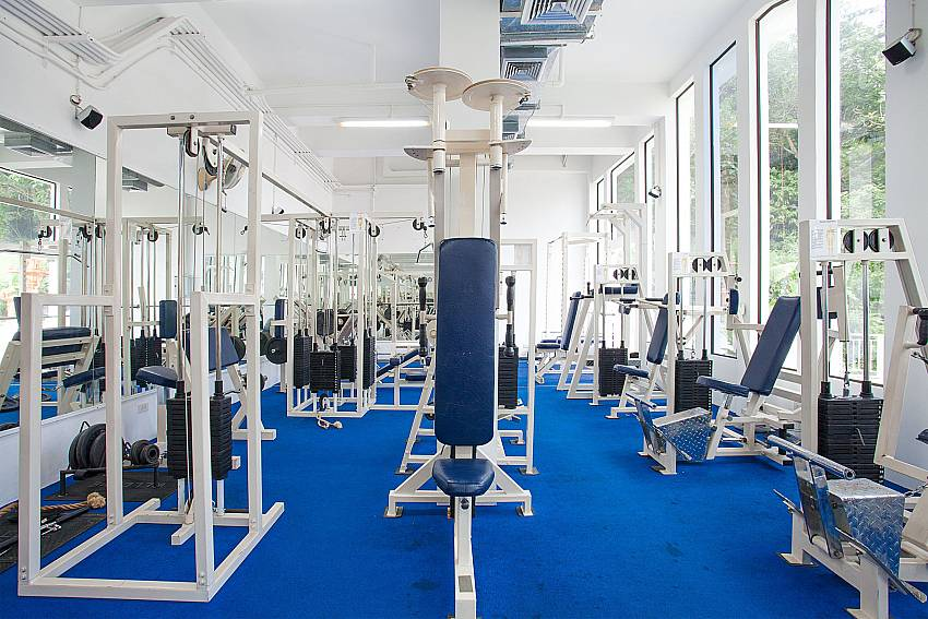 Well equipped gymnasium at Manuae Condo 102 in West Phuket