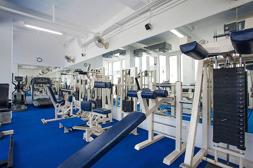 Fitness room at the Manuae Condo 102 Karon Phuket