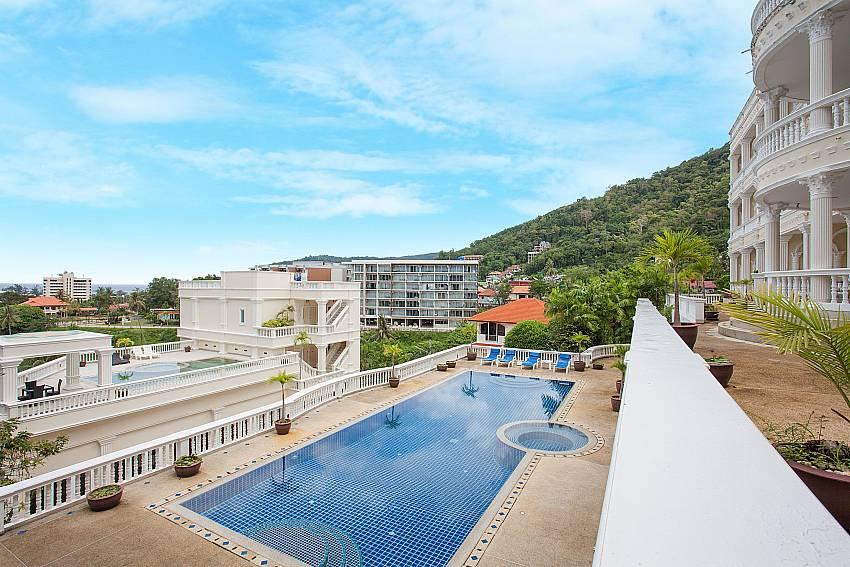 Great pool area with sea view at Manuae Condo 102 West Coast Phuket